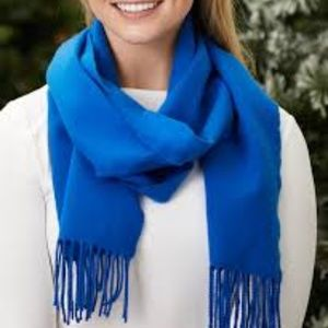Accessories - Blue Cashmere Scarf Soft New